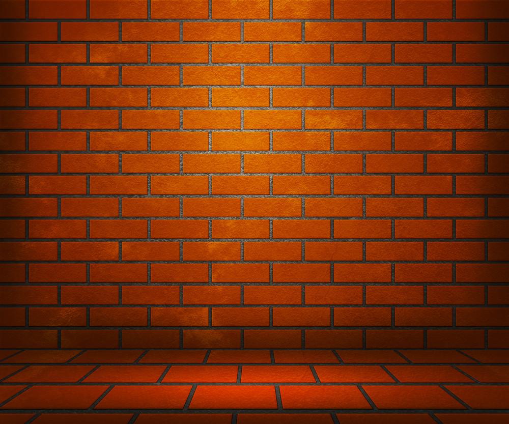 Orange Brick Stage Background