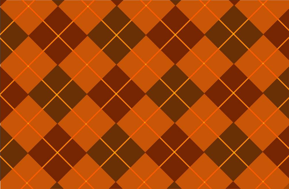 Orange-browny Tartan