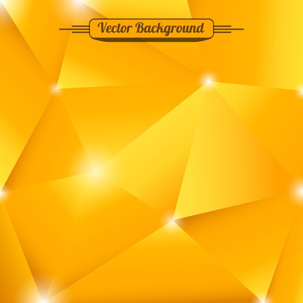 Orange Edges. Vector Background.