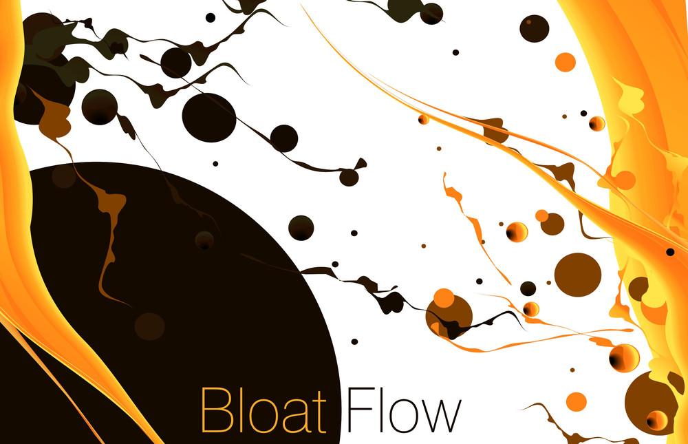 Orange Flow. Vector.