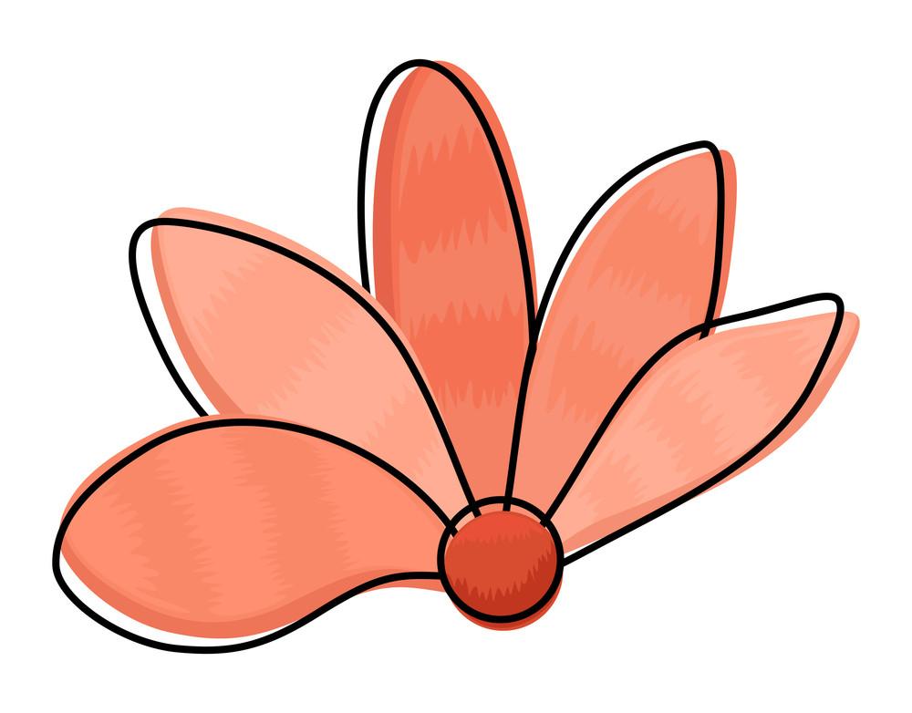 Orange Flower Clipart