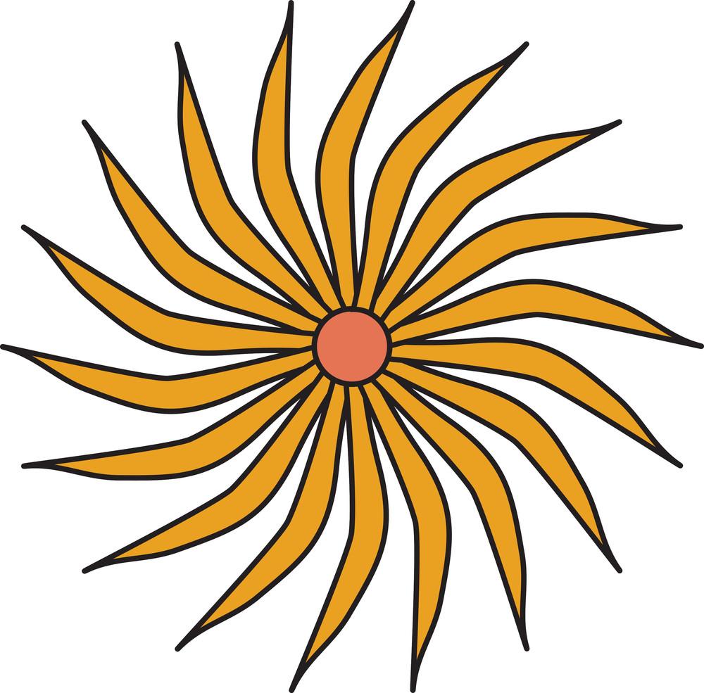 Orange Flower Design
