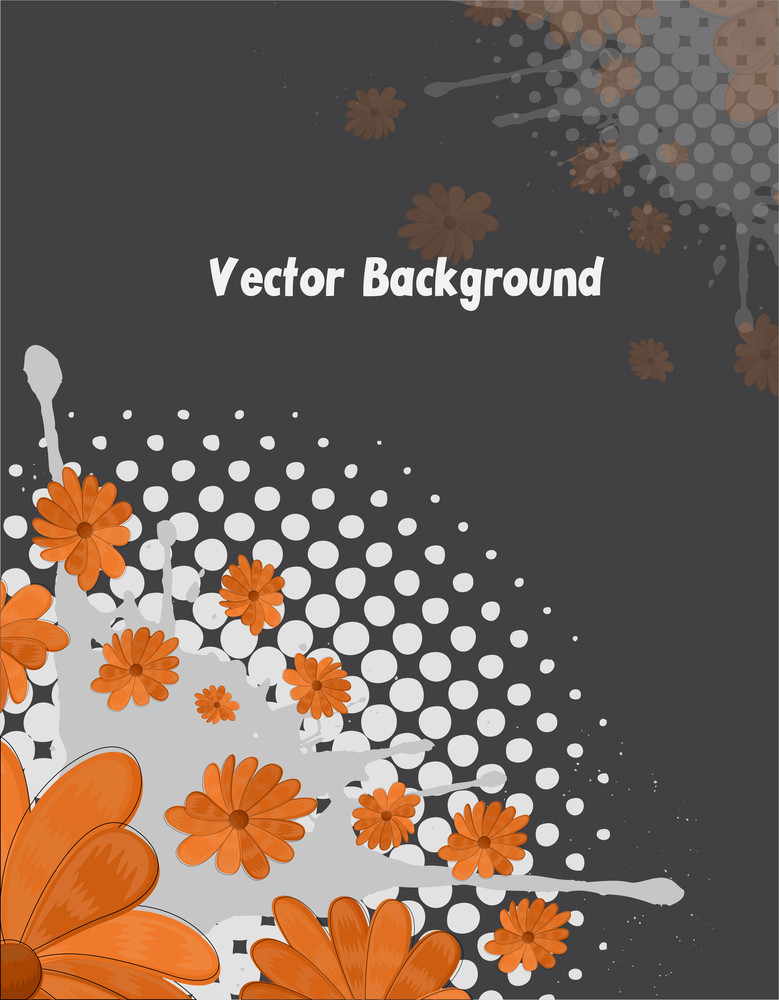 Orange Flowers Splash Background