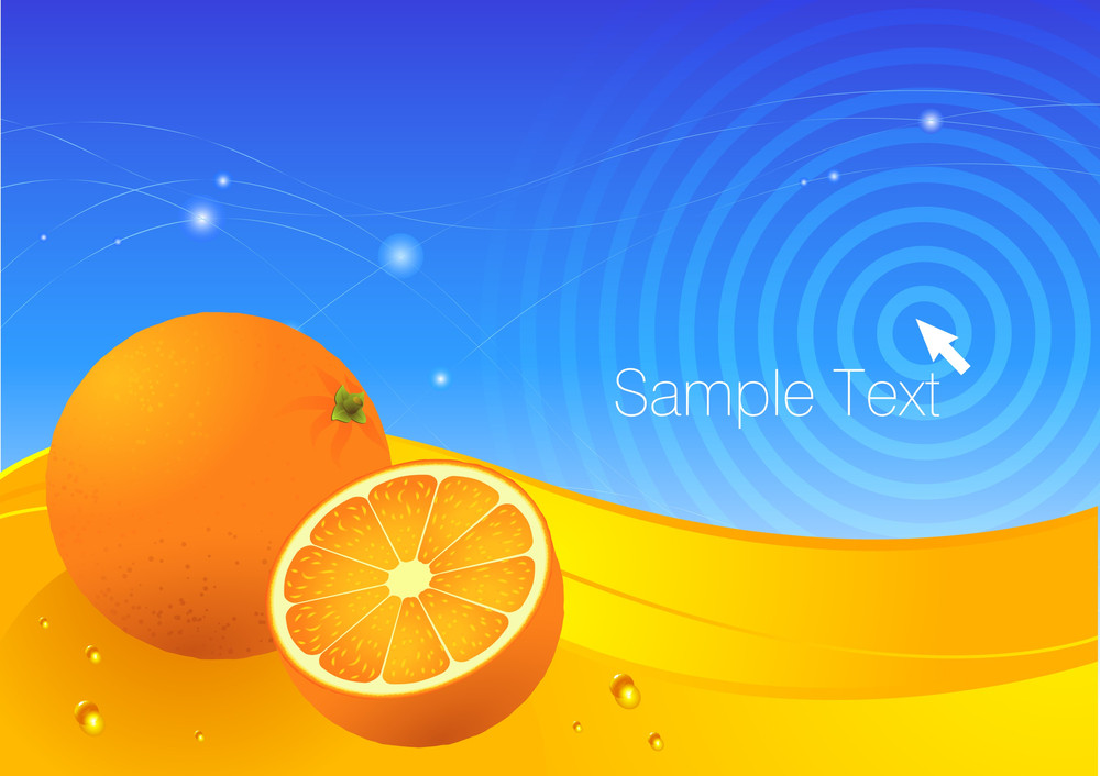 Orange Fresh Vector Background.