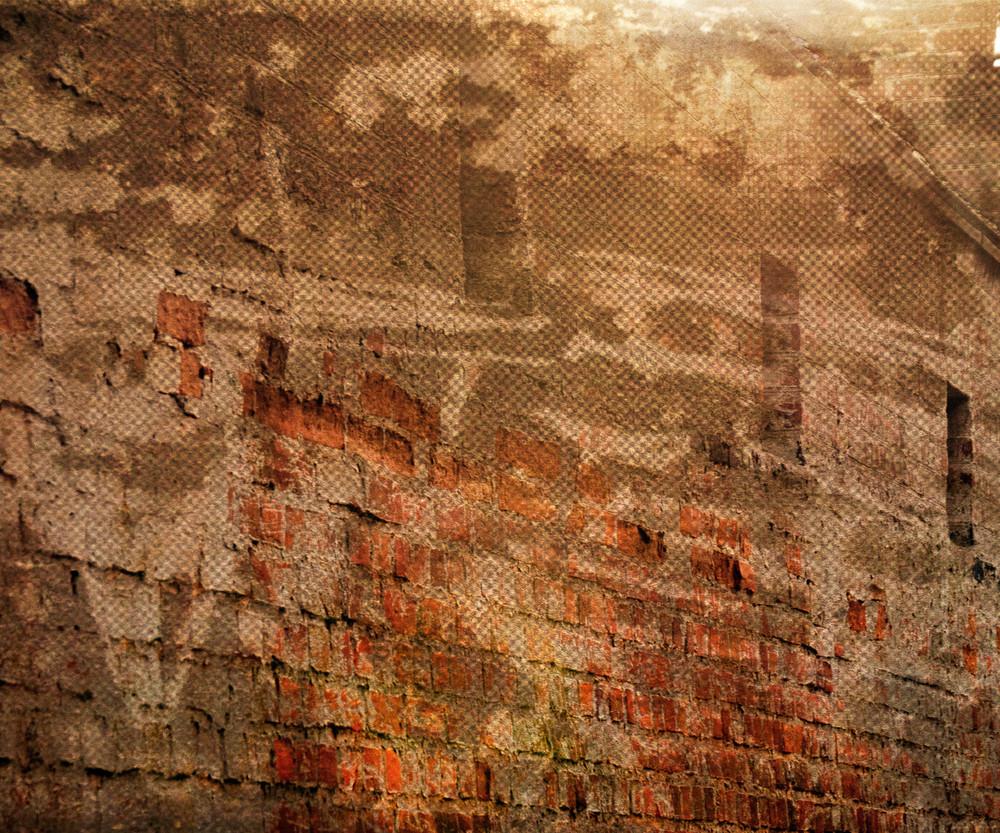 Orange Grunge Urban Wall Background