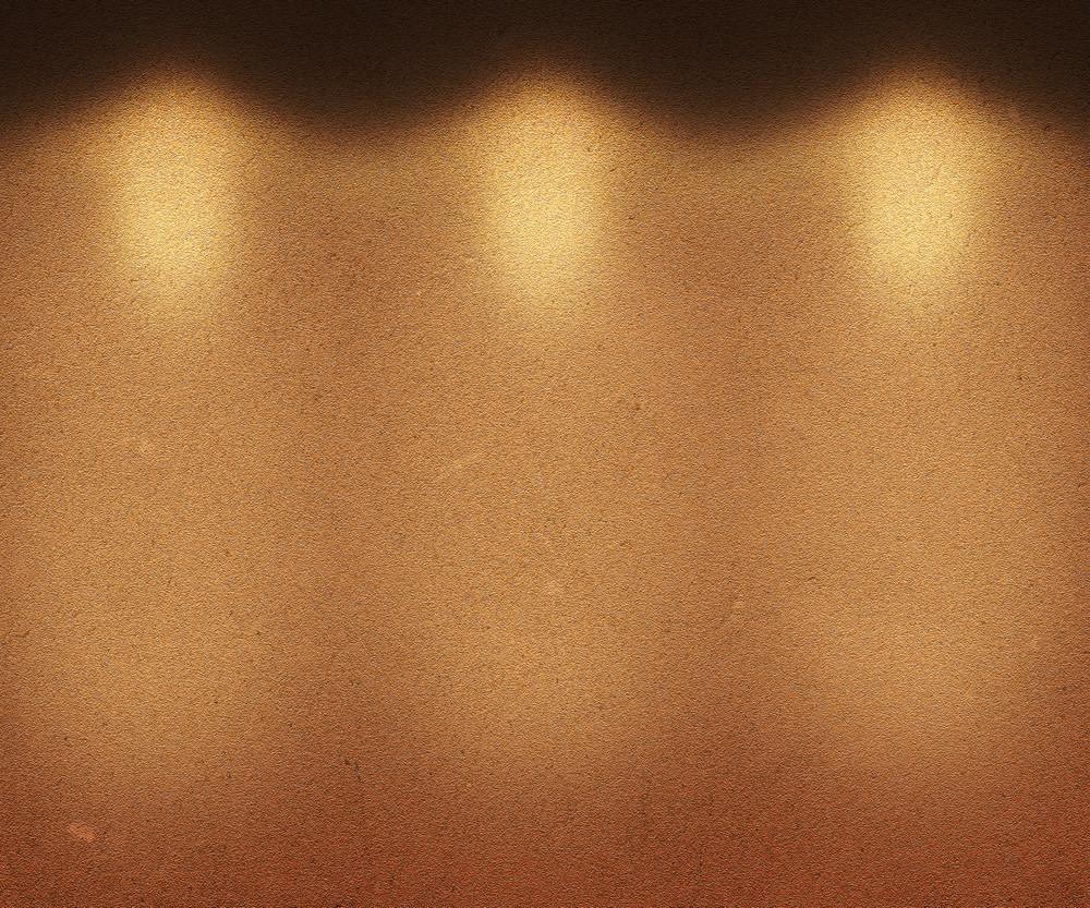 Orange Illuminated Wall