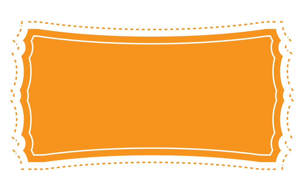 Orange Label Banner