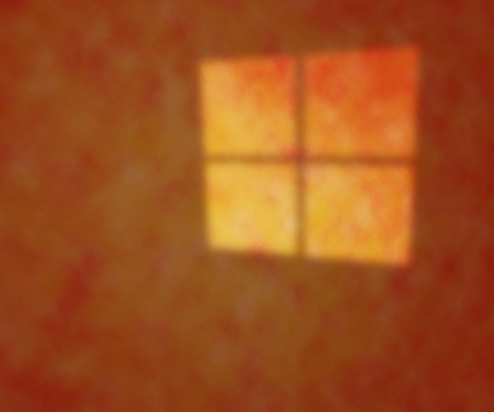Orange Light On The Studio Texture