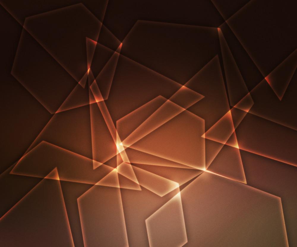 Orange Light Shapes Background