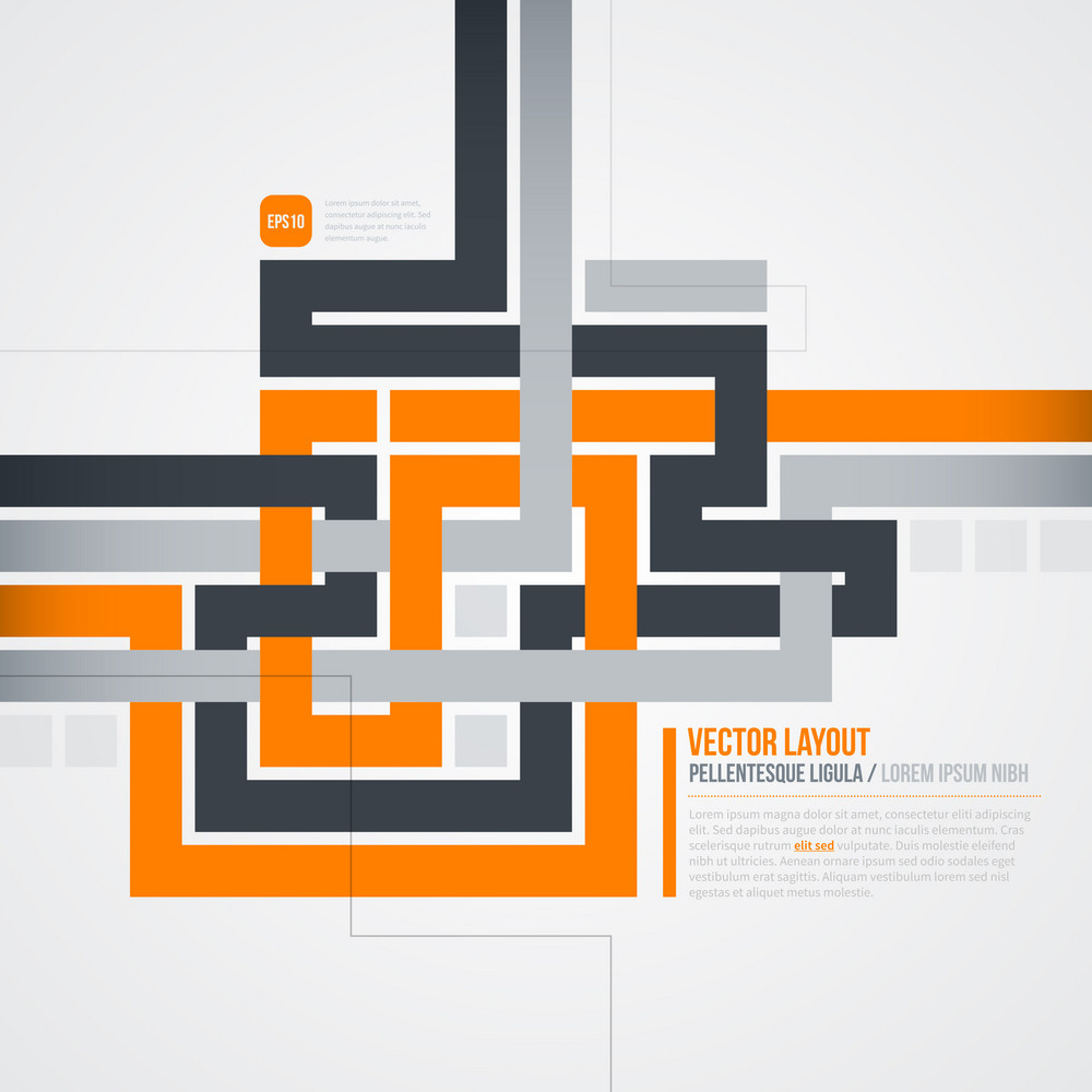 Futuristic Background With Crossing Lines. Eps10.