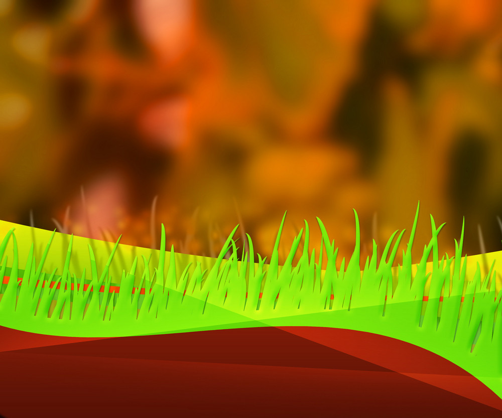 Orange Nature Grass Abstract Background