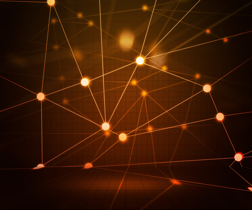 Orange Network Stage Background