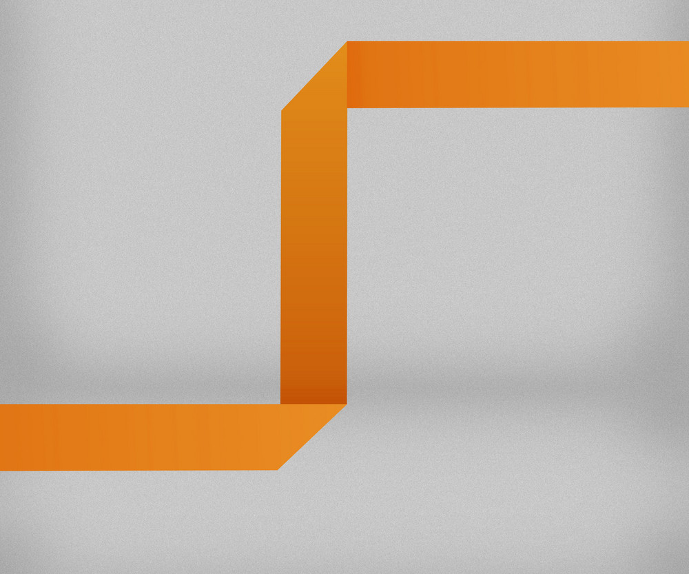 Orange Origami Background