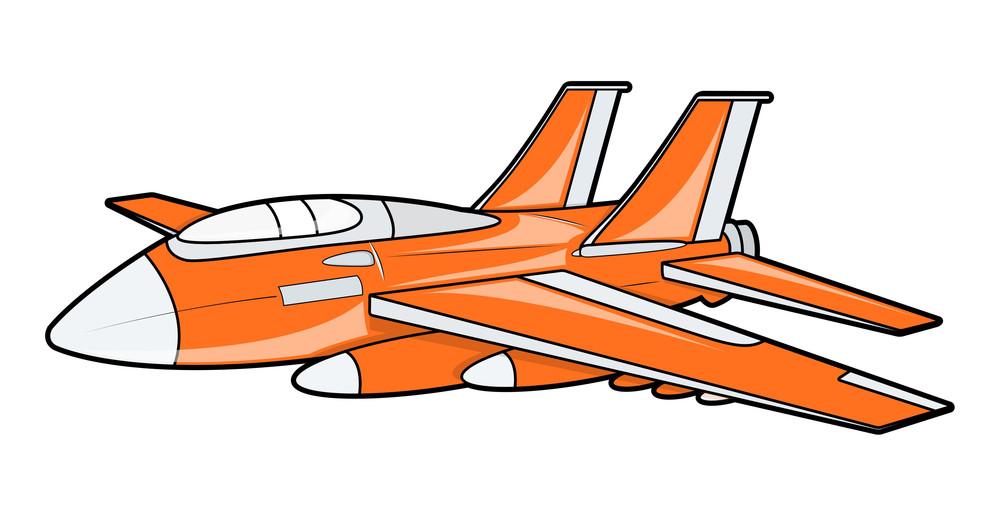 Orange Plane Vector