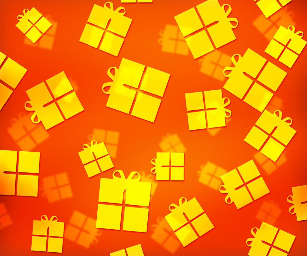 Orange Presents Abstract Background