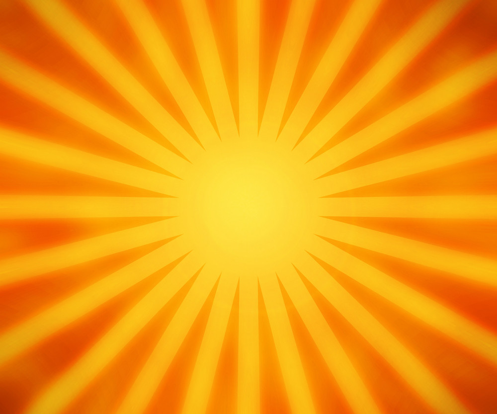 Orange Rays Background