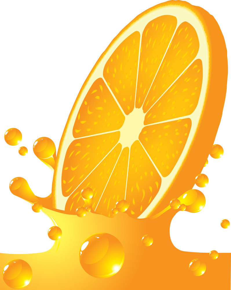 Orange Splash. Vector.