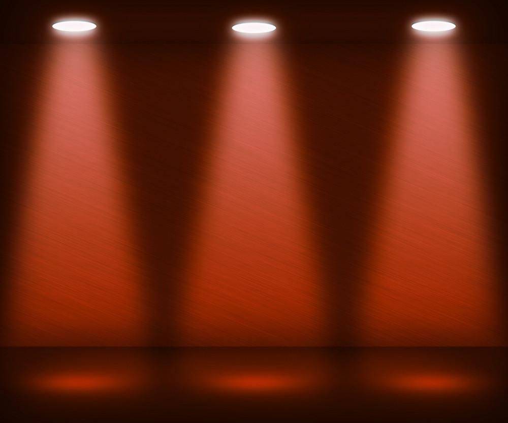 Orange Spotlight Room