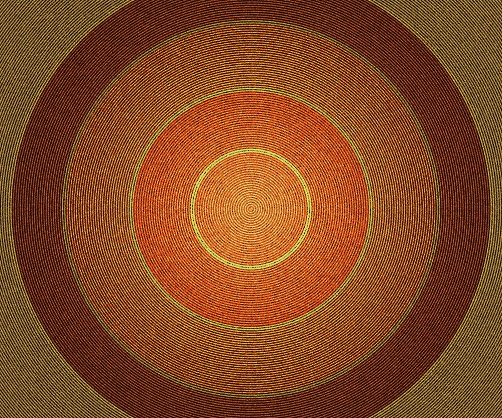 Orange Vintage Circles Background