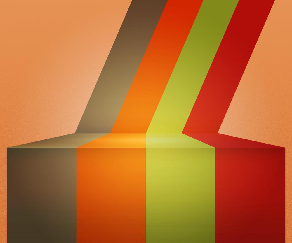 Orange Vintage Stripes Stage Background