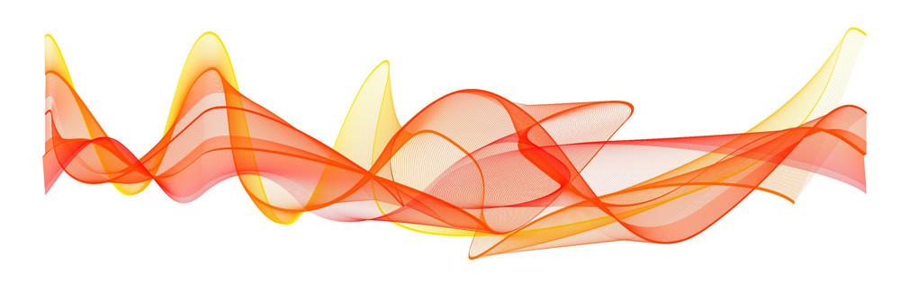 Orange Wave Lines