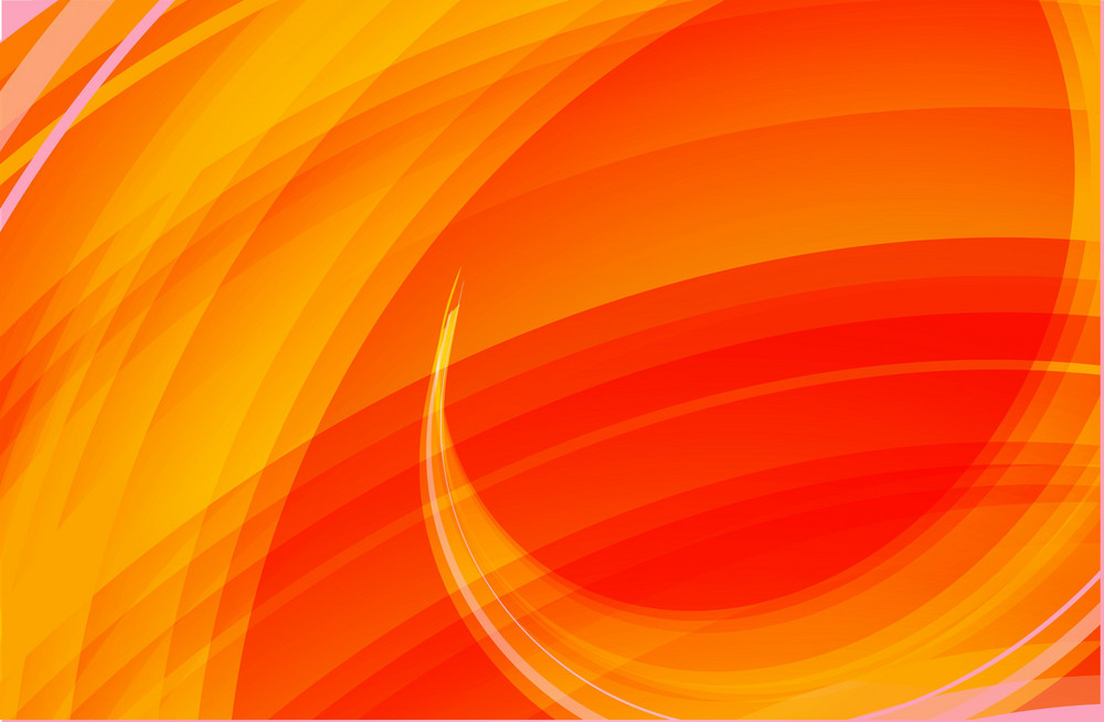 Orange Waves Vector