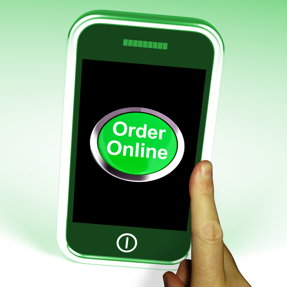 Order Online Button On Mobile Shows Buying On The Web