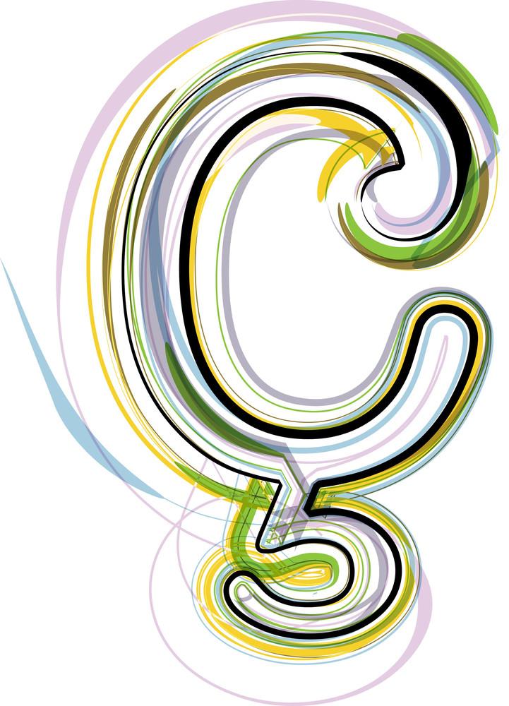 Organic Font Symbol Illustration