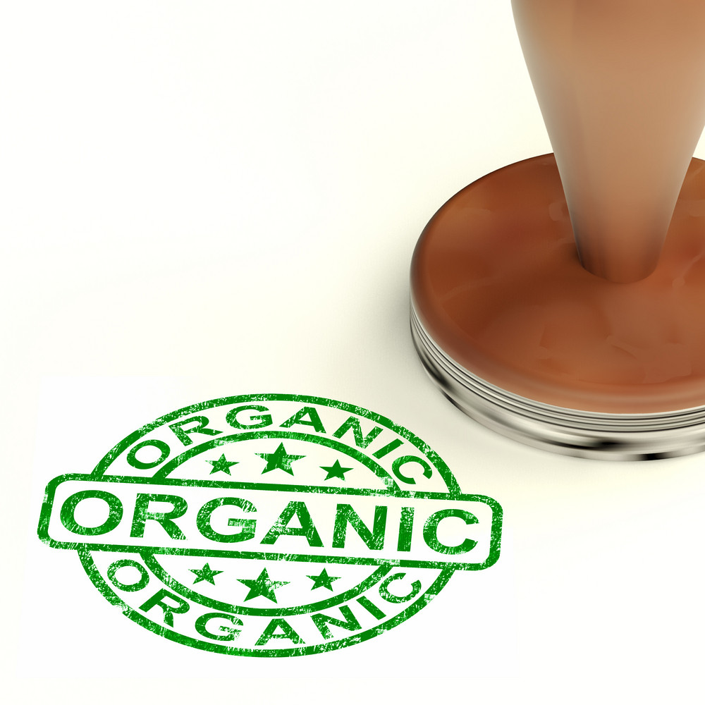 Organic Stamp Shows Natural Farm Eco Food
