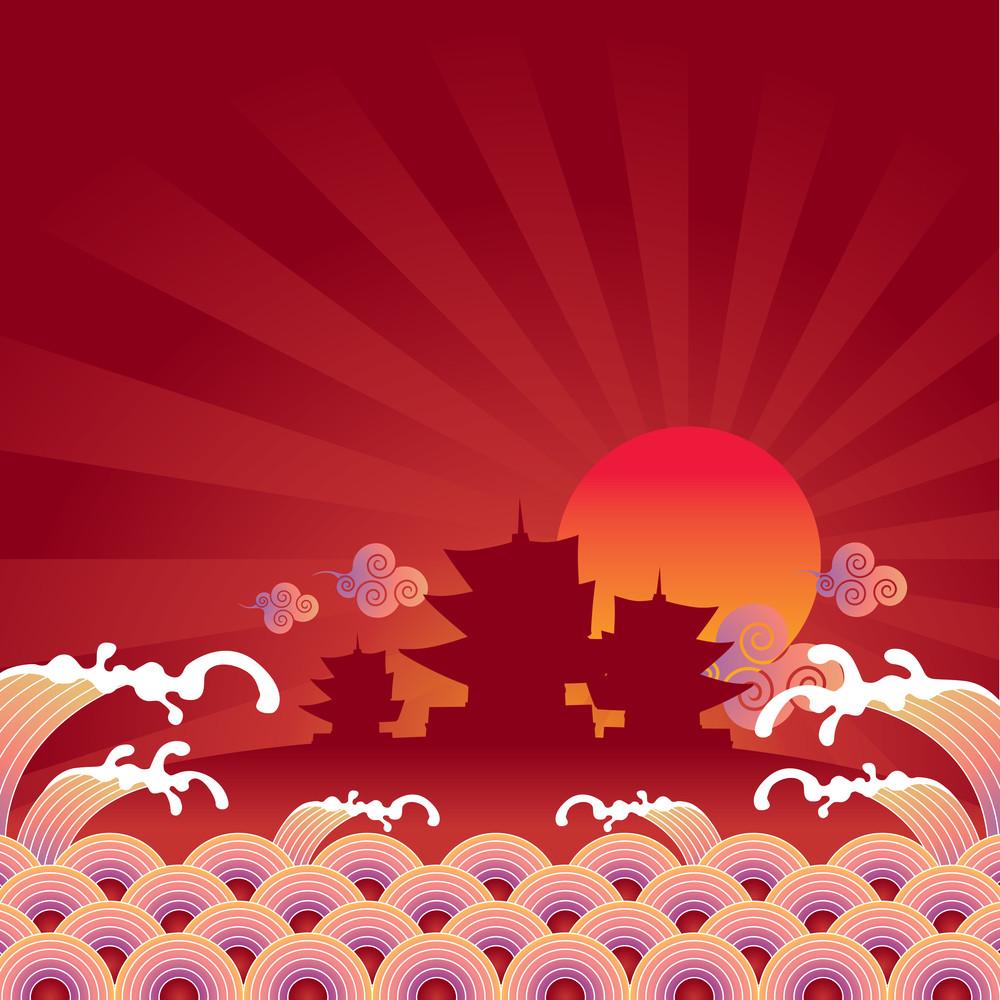 Oriental Background Design