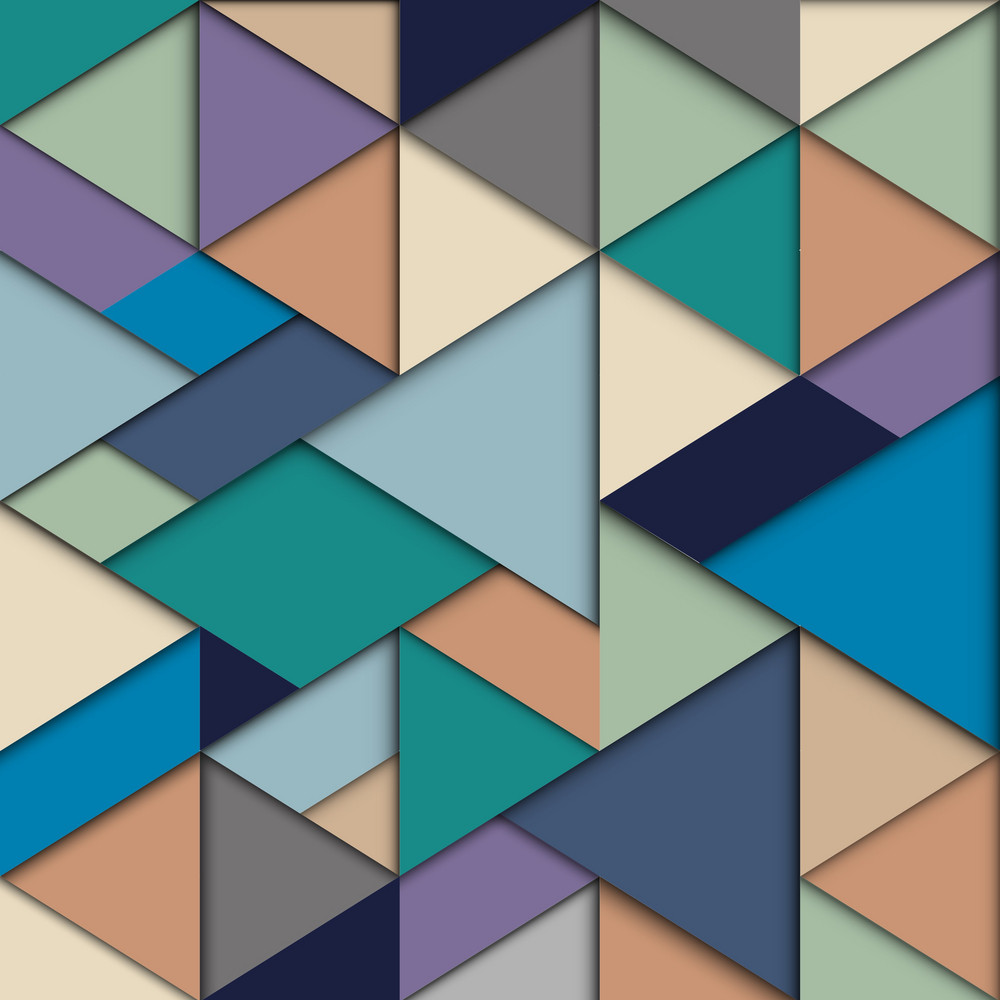 Origami Background In Retro Colors