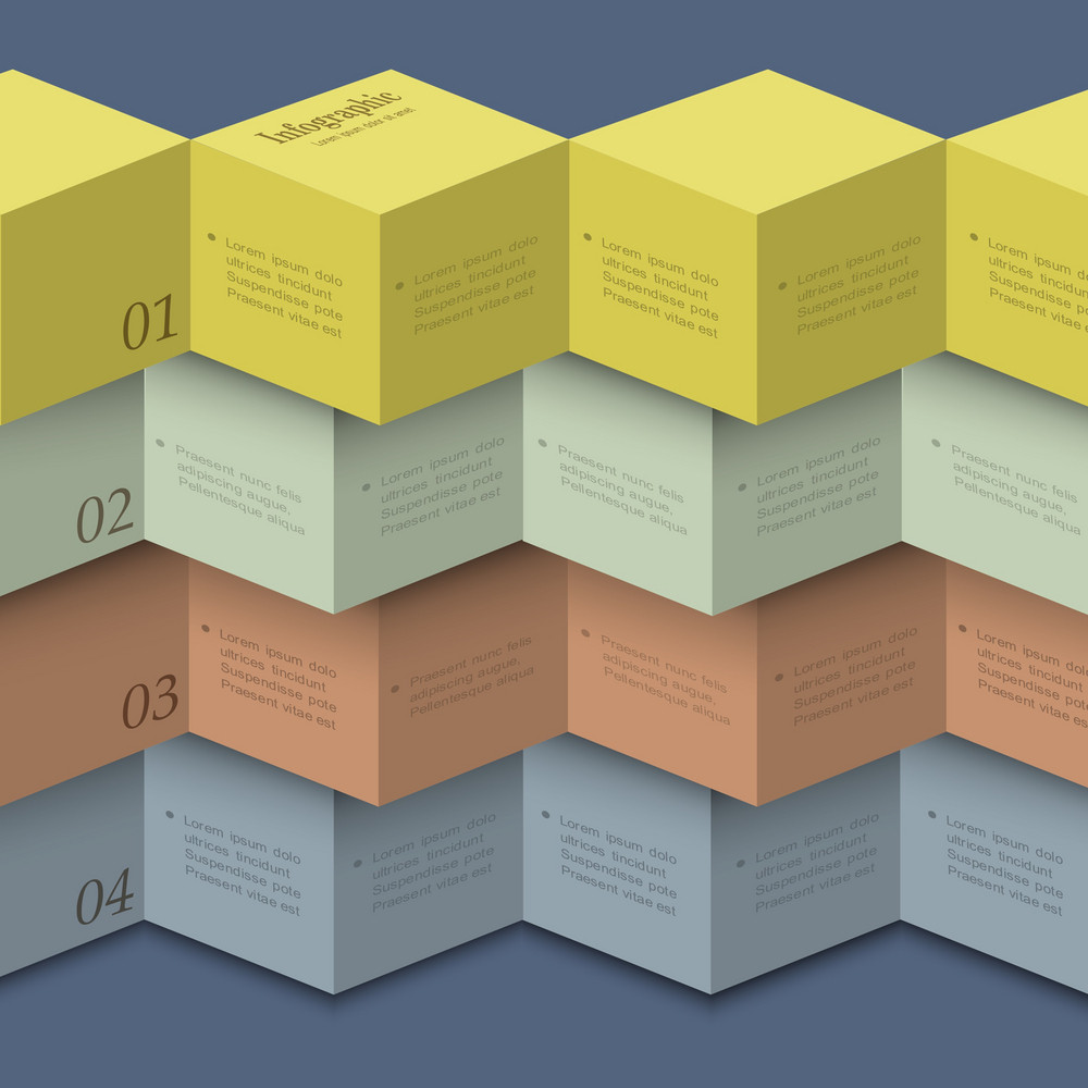 Origami Style - Design Template For Infographics
