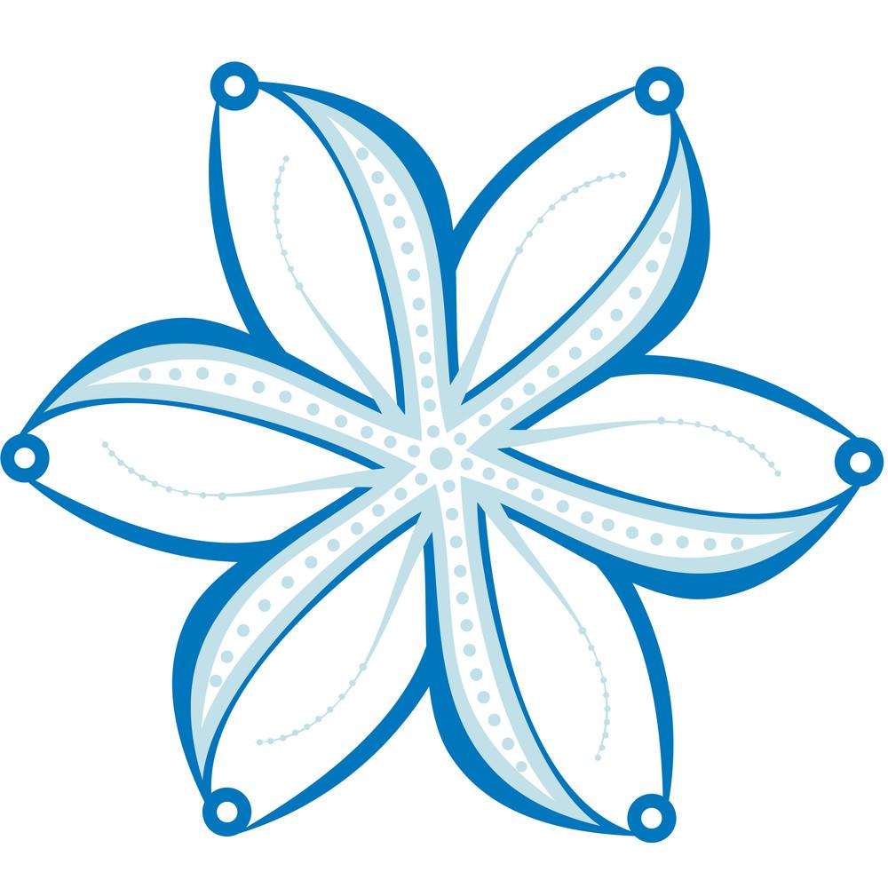 Original Snowflake On White