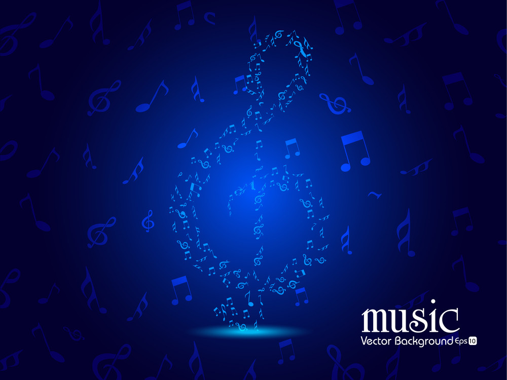 Ornament From Notes Music Background.