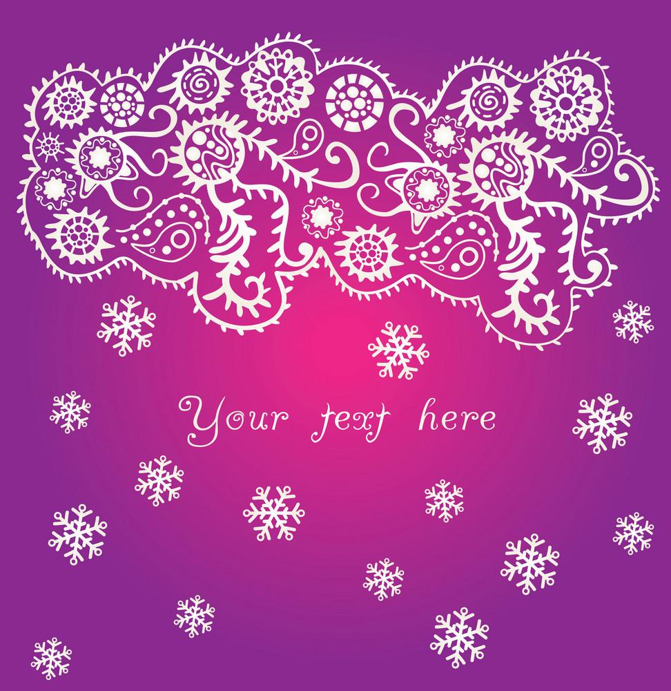 Ornamental Christmas Background