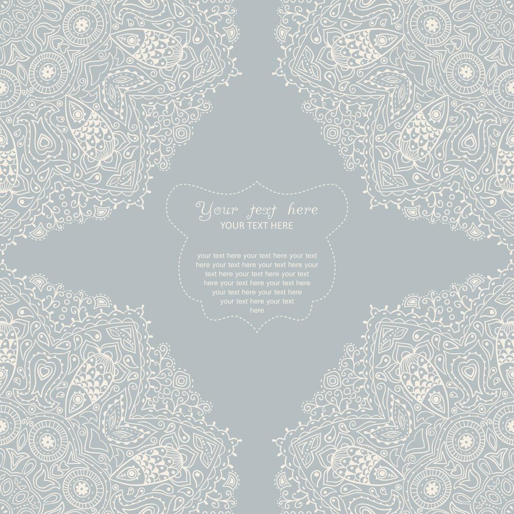Ornamental Corner Lace Frame. Background For Celebrations