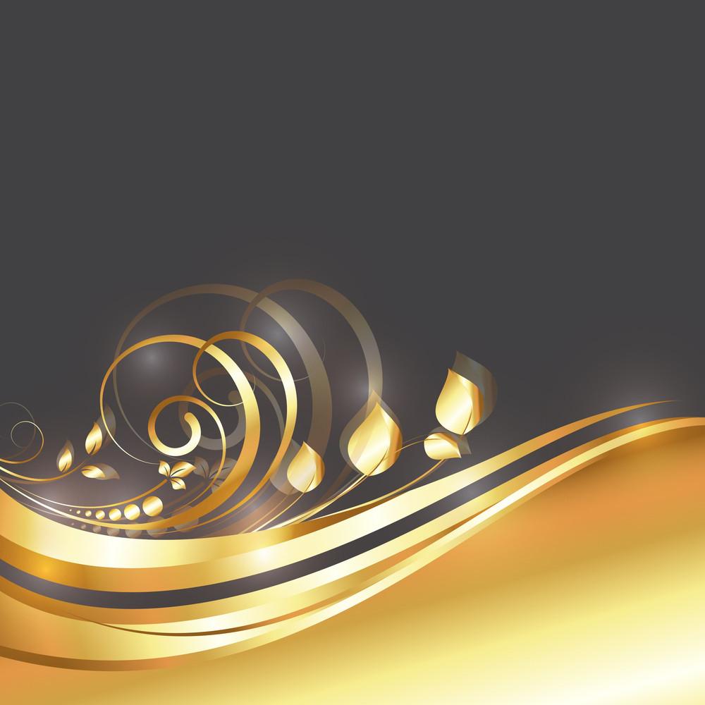 Ornamental Royal Golden Flourish Design