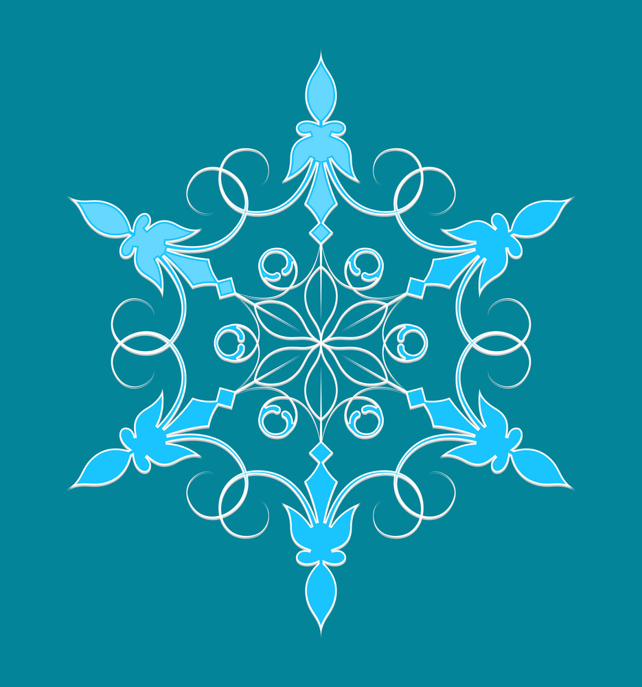 Ornate Decor Snowflake