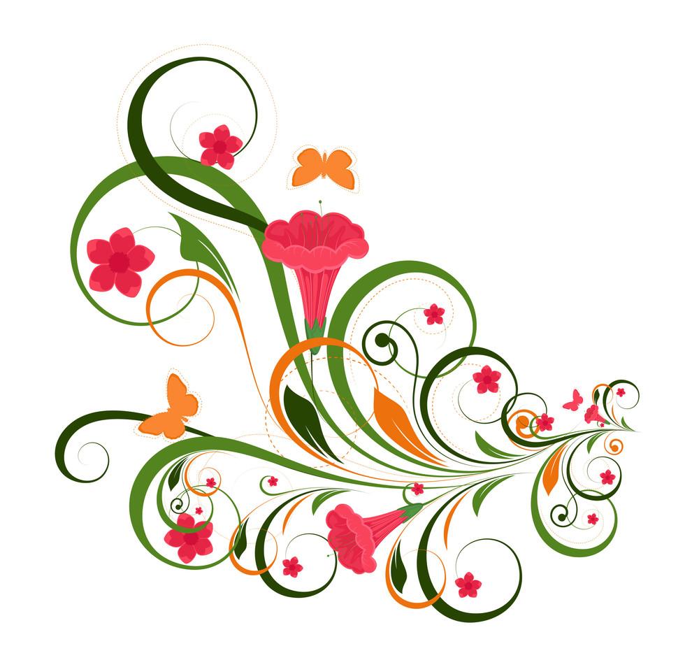 Ornate Flourish Decoration Background
