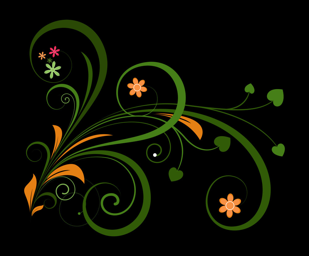 Ornate Flourish Decorative Christmas Graphic