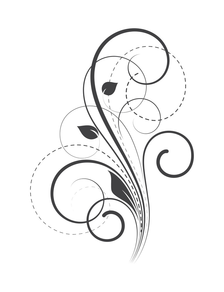 Ornate Flourish Retro Design