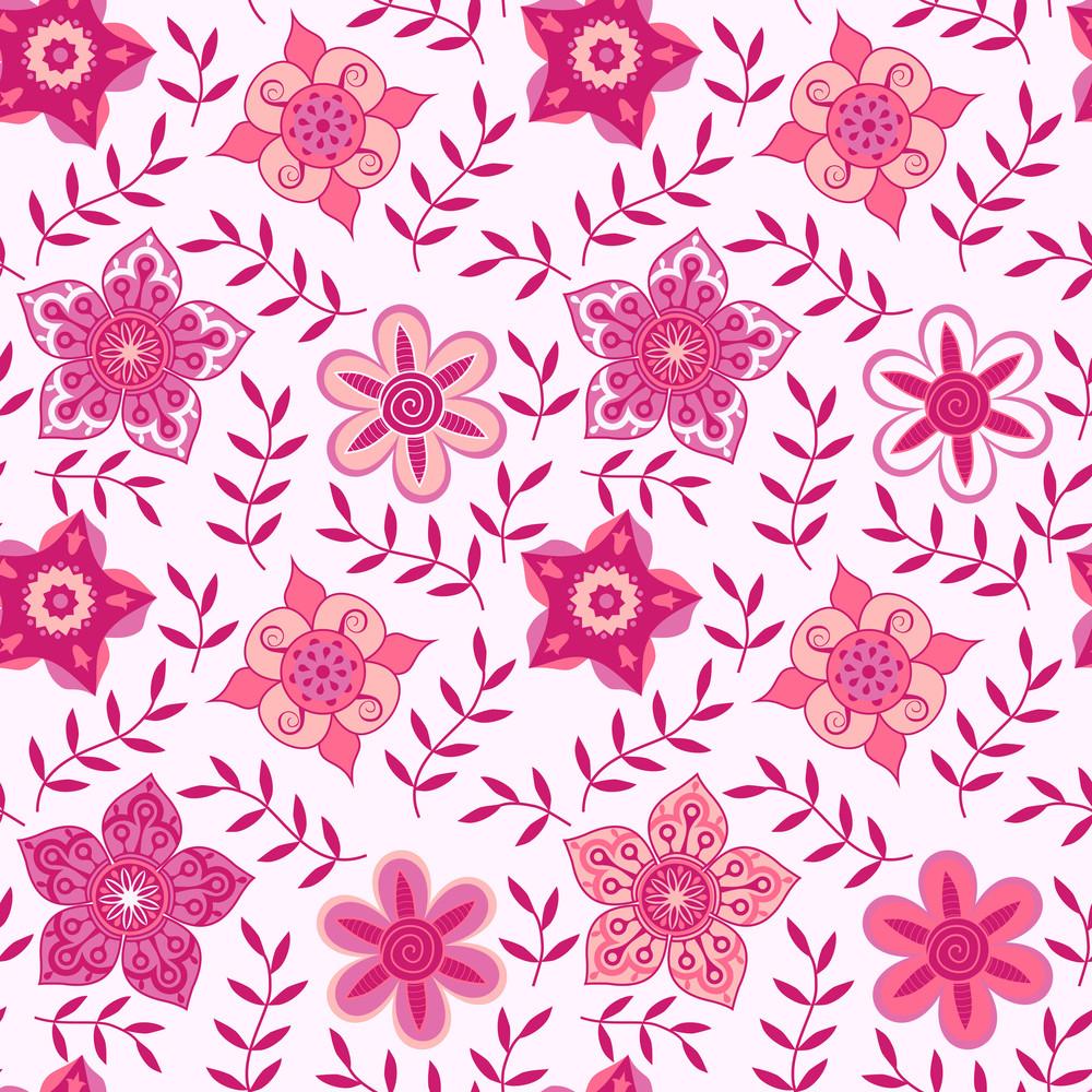 Ornate Flowers Seamless Texture