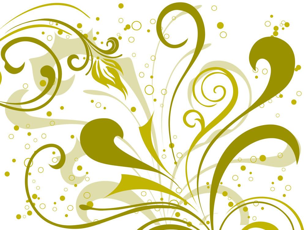Ornate Pattern Floral Background