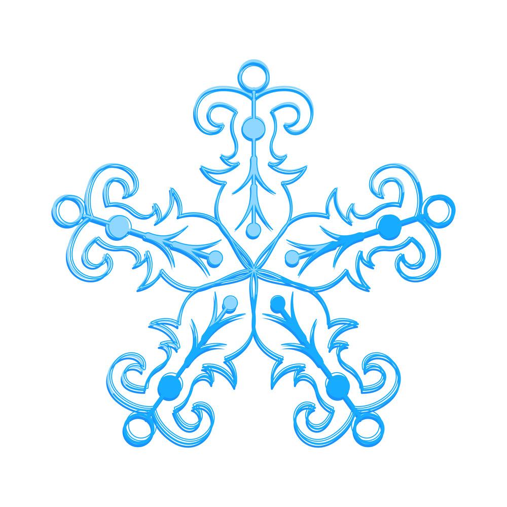 Ornate Snowflake Isolated