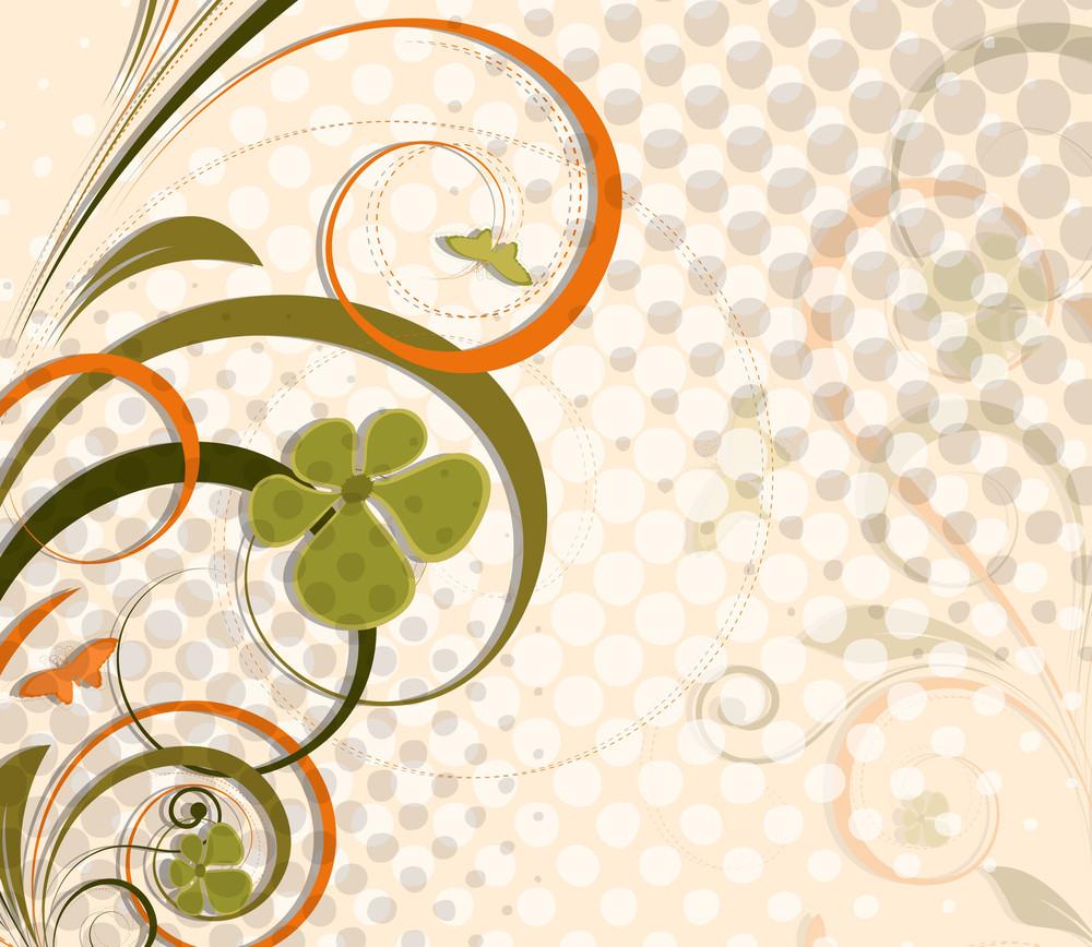 Ornate Swirl Halftone Background