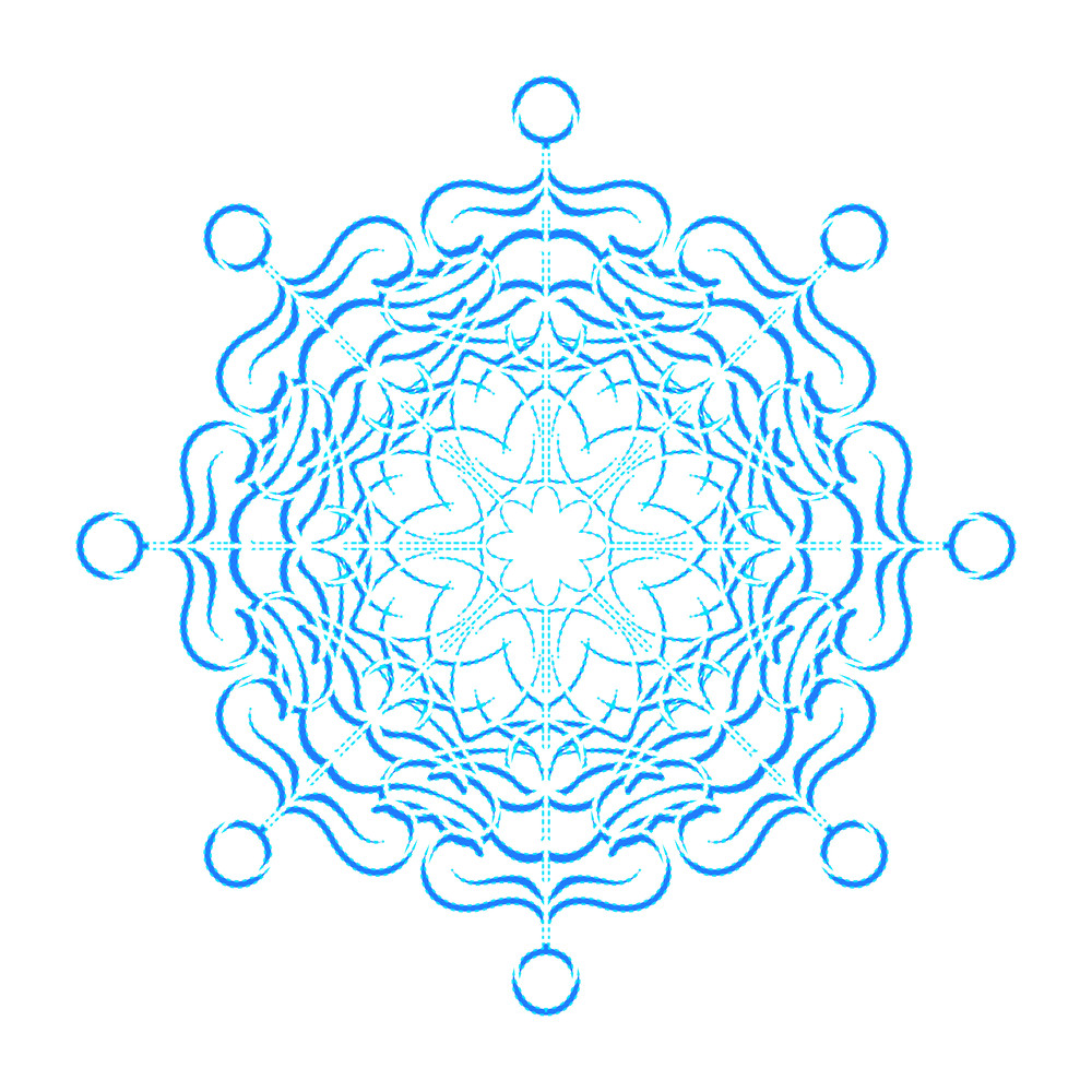 Ornate Xmas Snowflake Design