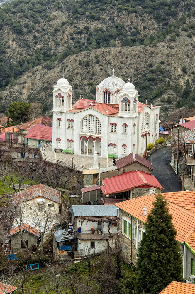 Orthodox Church In Pedoulas Village