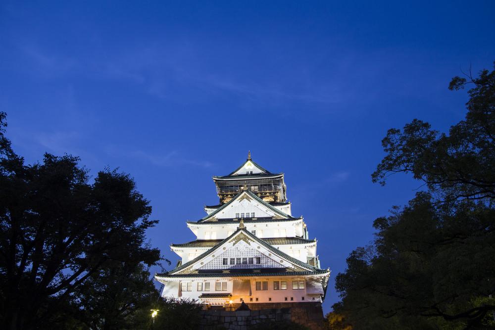 Osaka castle. Japan