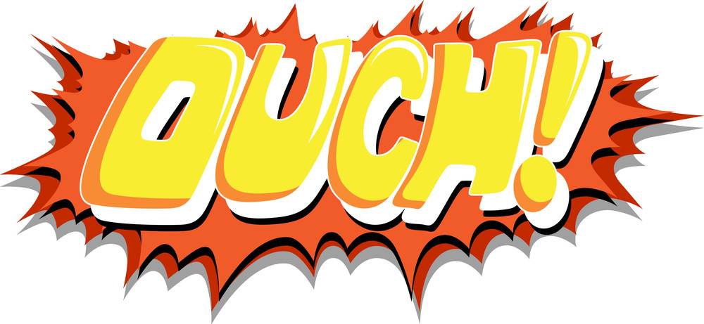 Ouch - Comic Expression Vector Text Royalty-Free Stock Image ...
