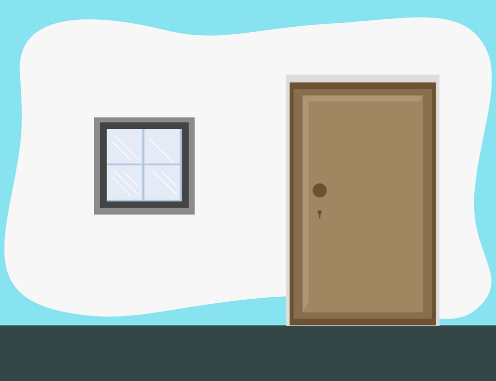 Outside Of Room - Cartoon Background Vector